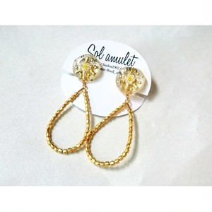 【ピアス/イヤリング】metal drop pierce/earring
