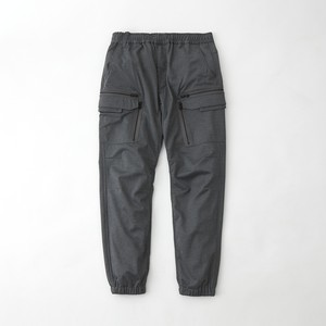 TWILLED JERSEY CARGO PANTS - GRAY