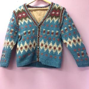 手編みニットカーディガン