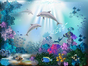 著作権フリー お魚になったつもりで聴く・水中散歩CDより 1曲単品販売 MAKOTO 四季 040