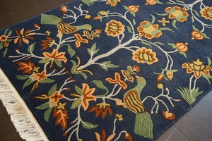 FLOWER & BIRD_HANDMADE FLOOR RUG