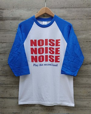 NOISE NOISE NOISE 3/4 sleeve T-shirts col.wht/royal
