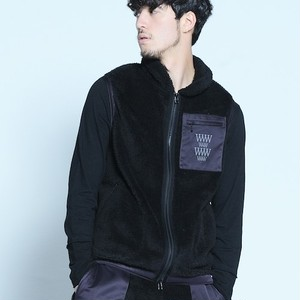 "VIRGO / ヴァルゴ |【特価SALE!!!】"" UMA STRETCH BOA VEST "" - Black"