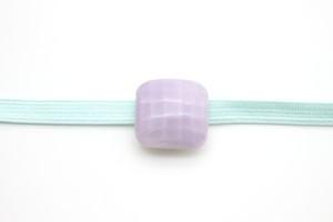 有田焼 帯留  四角 薄紫