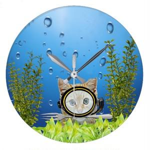 水中ディナー・壁時計(アメリカデザイン)