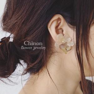 紫陽花片耳イヤリング