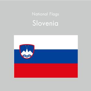 国旗ステッカー スロベニア