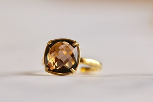 【宝石質/9〜13号】Smorky quartz ring