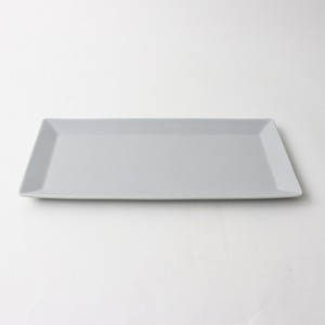 【SL-0047】磁器 30cm 角皿 グレー