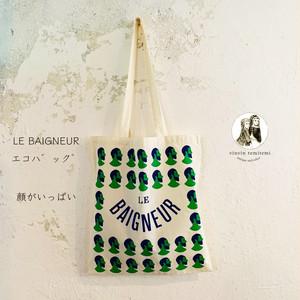 LE BAIGNEUR(ル・ベヌール)のトートバッグ 顔がいっぱい