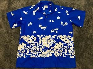 ハワイ ホノルル製 ビンテージ コットンハワイアンシャツ アロハ 60s OLD
