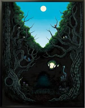 蒼鷺の家族が棲む森(あおさぎのかぞくがすむもり)