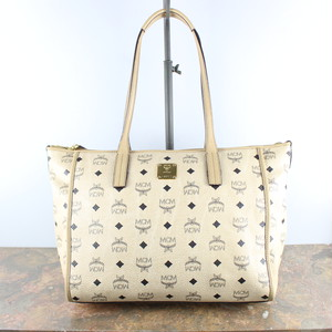 .MCM LOGO LEATHER TOTE BAG MADE IN KOREA/エムシーエムロゴレザートートバッグ2000000048482