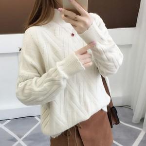 【トップス】シンプルハイネック暖かい合わせやすいセーター24808718