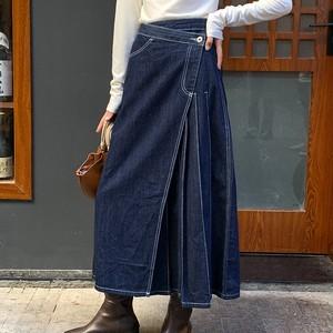 Denim pleats skirt(デニムプリーツスカート)a-836