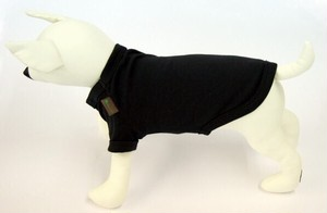 犬用 Tシャツ 黒(S.M.L.LL)税込