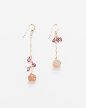 Basel / Pink Tourmaline w Cherry Quartz