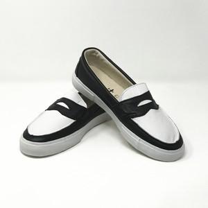 ローファー loafers<WHITE/BLACK>