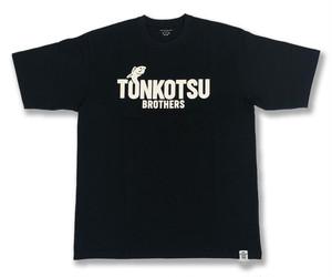 (T11)TONKOTSU BROTHERS 2020NewLogo TonkotsuRiseFish Tee  カラー :  ブラック×ホワイト