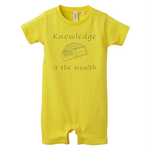 [ロンパース] Knowledge is the wealth 2 / yellow
