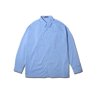 OVER SIZE BIG CLIP SHIRTS / BLUE