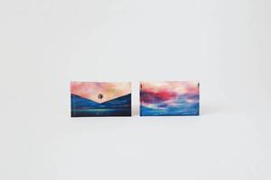 海と紺色の空のカードケース