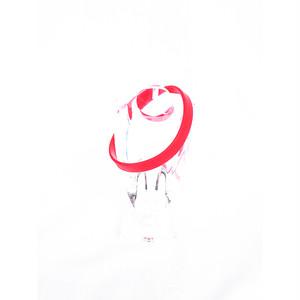 ラバー ブレス ブレスレット レッド 赤 RED 夏フェス 292