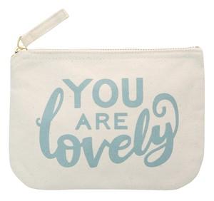 キャンバスポーチ(Sサイズ)You are Lovely