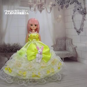 リカちゃんパーティドレス(黄色1)