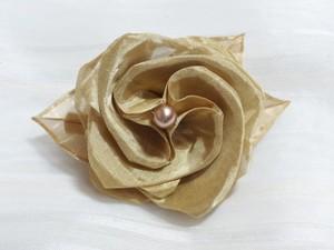 金(丹銅)薔薇コサージュ