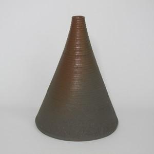 一輪挿し 千段 茶 陶器(信楽焼)製【SO-4931】