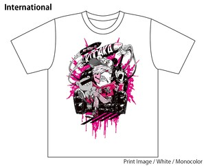 [White / Monocolor] Special T-shirt of Collaboration Design by Kazutaka Kodaka (Tookyo Games) and jbstyle.