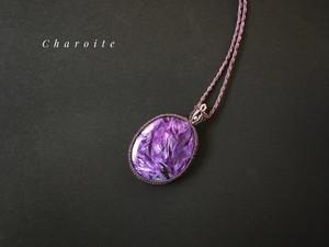 チャロアイト/エンジェルシリカ macrame necklace