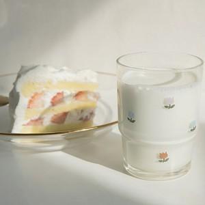【1+1】tulip glass cup 2P set / チューリップ コップ セット グラス 韓国 雑貨