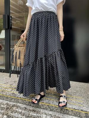 dots tiered skirt / black 7/29 21:00 ~ 再販 (即納)