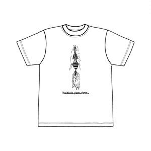 ロケット Tee ホワイト×ブラック/THE BLONDIE PLASTIC WAGON