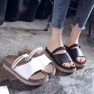 【送料無料】【2色】シンプル歩きやすい スリッパ サンダル フラット カジュアル夏