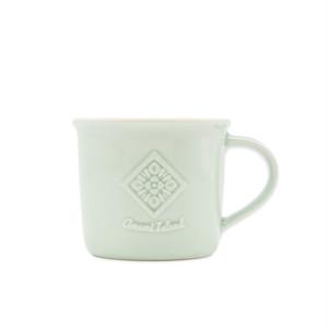 ホーローマグカップ | ライトグリーン | 紬柄