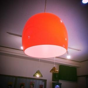 レトロなガラスランプ オレンジ