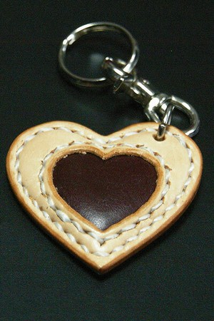 【FLAT FIELD】LEATHER KEY RING / Natural×BROWN