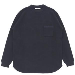 【YASHIKI】Waffle Crew neck Knit -BLACK-
