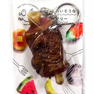 漫画肉 食品サンプル キーホルダー ストラップ