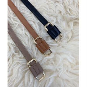 ZURI ・Square Buckle Thin Belt(0W48031H)