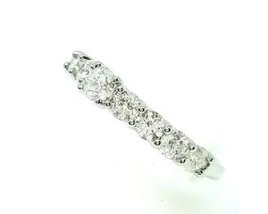 【仕上げ済み】 Pt900 ダイヤモンドデザインリング