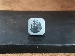 帆船 タイタック/ラペルピン 【グレー×黒】