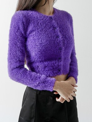 【WOMENS - 1 Size】CROPPED FUR CARDIGAN / 2colors
