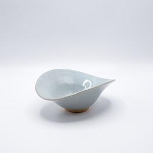 月白瓷 楕円鉢【藤井 憲之】