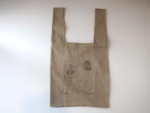 """01"" eco-BAG  'マントヒヒ'  -sand beige-   L"