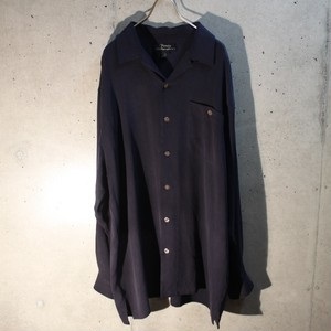 Silk Open Collar Shirt