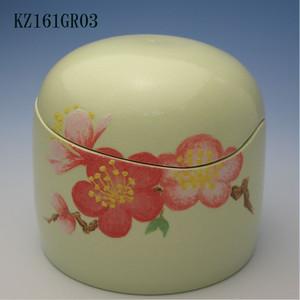 陶器製ミニ骨壷あんのん(KZ161GR03)梅